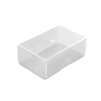 Plastic Business Card Box (125 Cards) - Clear / Transparent